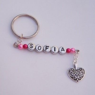 Detailed Heart Personalised Keyring
